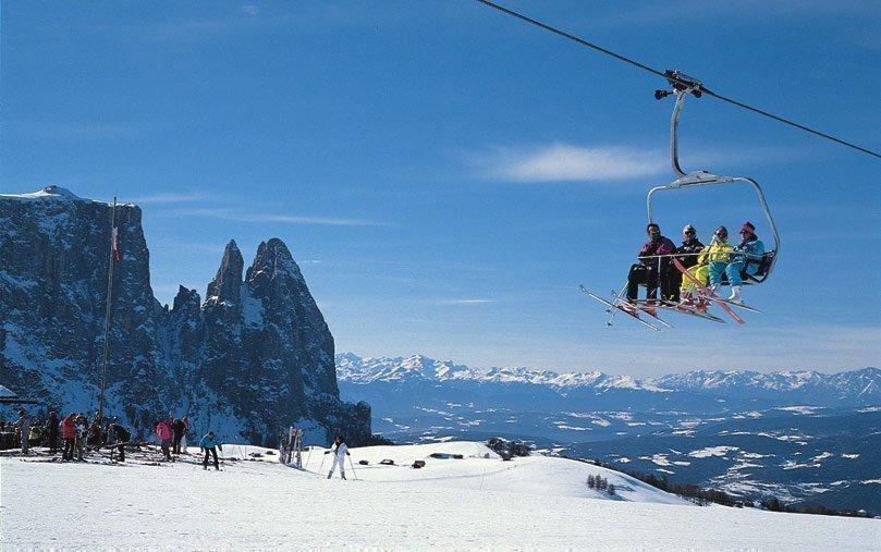 Ski alpin auf der Seiser Alm und im Grödnertal