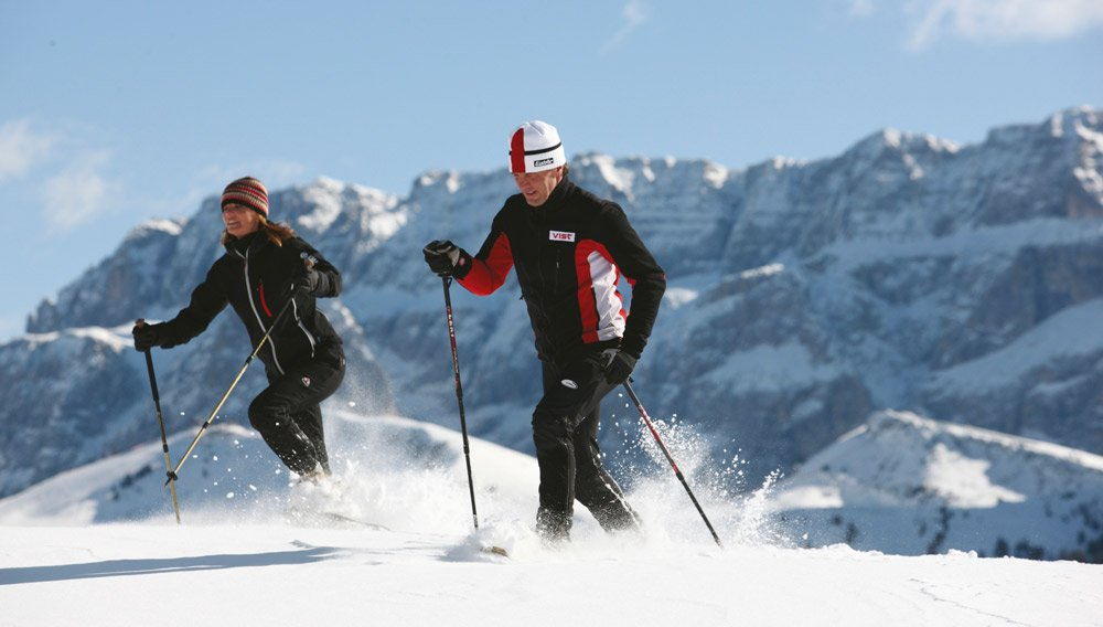 Winter sports paradise in the Dolomites